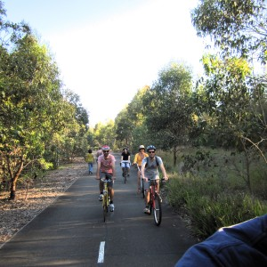 Cycling in Sydney Olympic Park